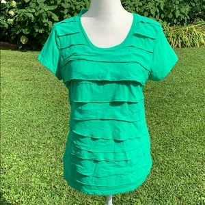 Merona green ruffle top
